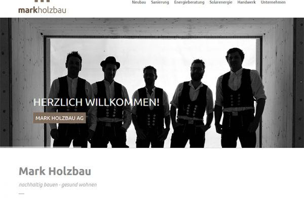 Website Mark Holzbau